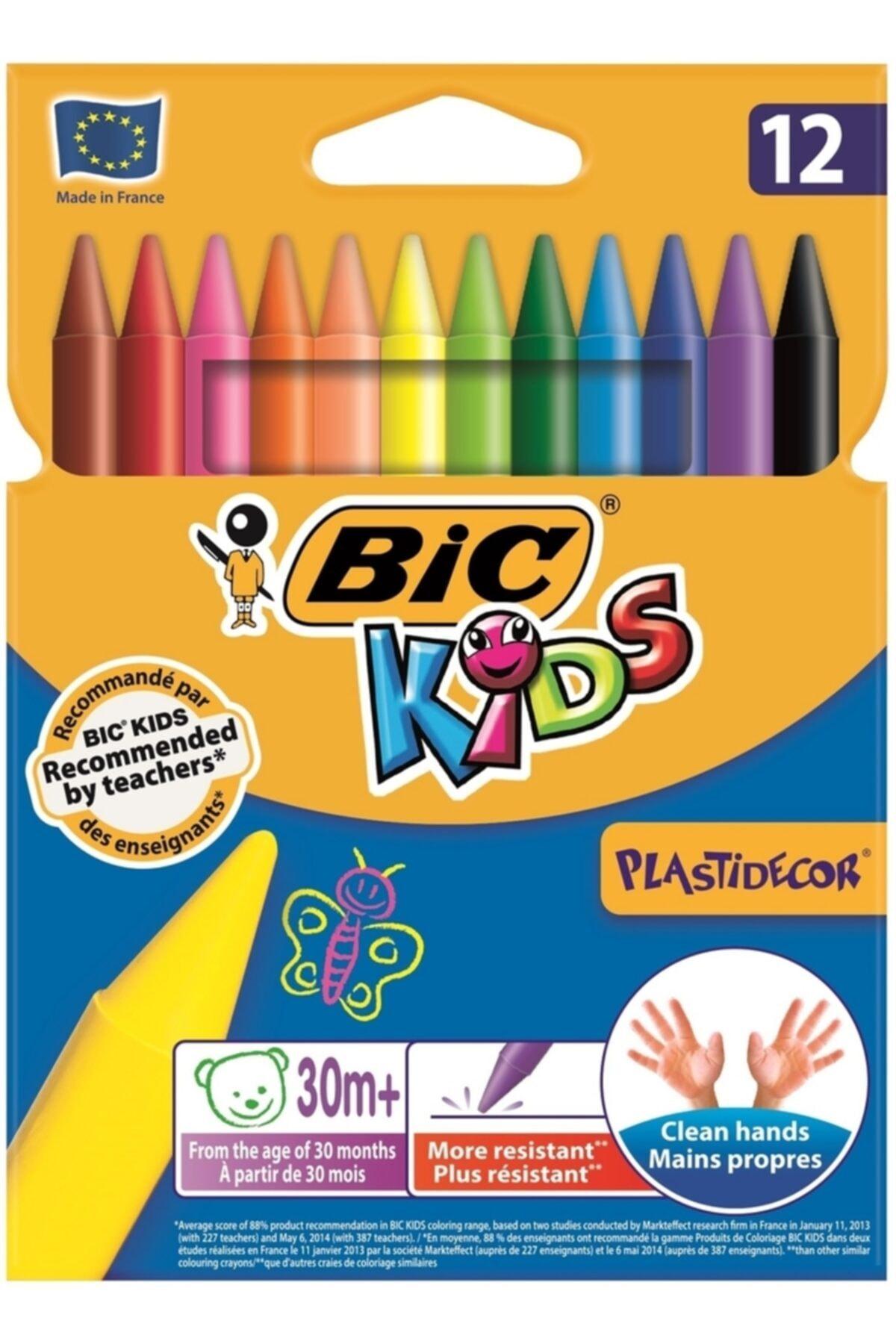 Bic Kids Plastidecor Silinebilir Pastel Boya 12 Renk 920299