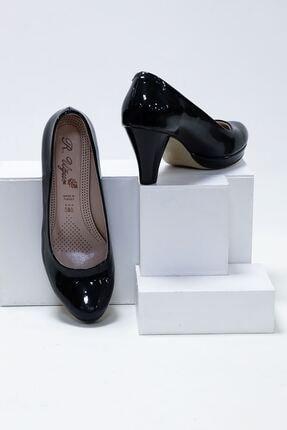 epaavm Kadın Siyah Rugan Platform Dekolte  Ayakkabı 1