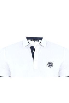 Giorgio Di Mare Erkek Beyaz Kısa Kollu Polo T-shirt 1