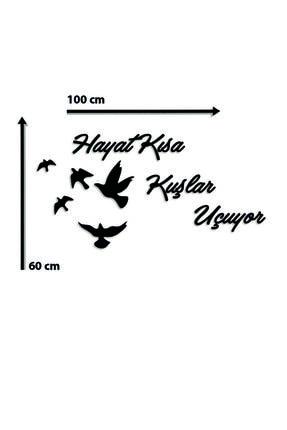 giogift Ahşap Lazer Kesim Duvar Dekoru Hayat Kısa Kuşlar Uçuyor 1