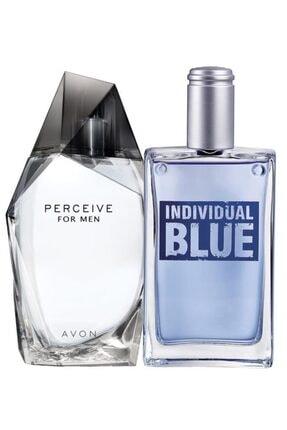 Avon Perceive Ve Individual Blue Edt 100 ml Erkek Parfüm Set 0