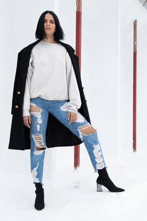 Angemiel Kadın Beyaz Wear Sweatshirt 2