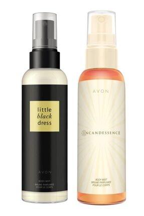 Avon Little Black Dress ve Incandessence Kadın Vücut Spreyi Paketi 0