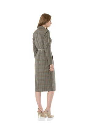 BİRELİN Kadın Gri Melba Elbise 3