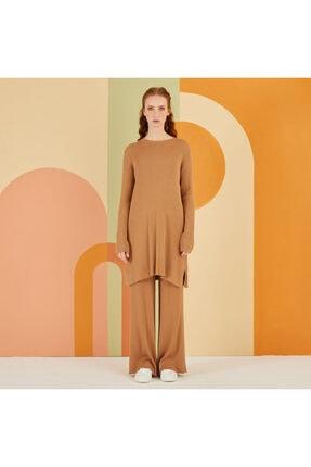 Nuss Kadın Camel Triko Takım 0