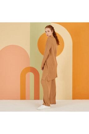 Nuss Kadın Camel Triko Takım 1
