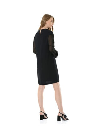 BİRELİN Kadın Siyah Elbise 4