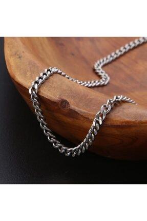 ERGONOMİSEPETİ Kaliteli Gümüş Modeli Unisex Bakla Kuban Salaş Zincir 70 Cm 1