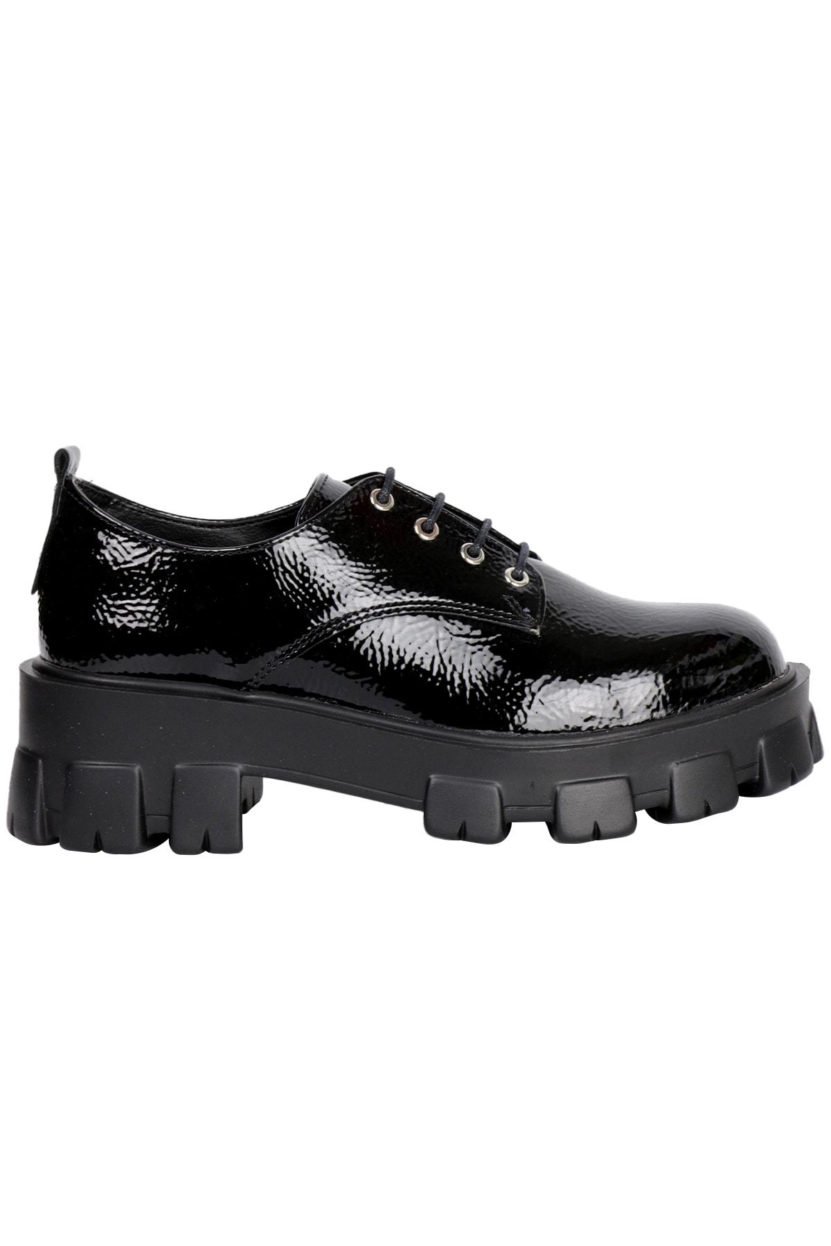 OZ DOROTHY Kadın Siyah Rugan Sneaker