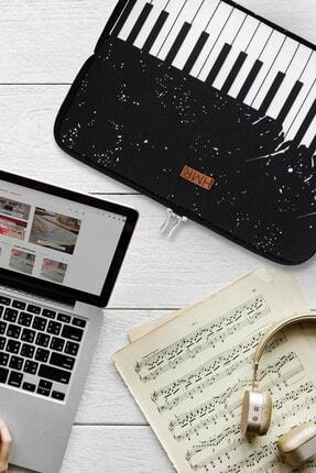 Easy Case 13 Inç Laptop Çantası Notebook Kılıfı Piano New resmi