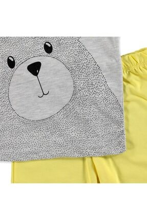 Tuffy Erkek Bebek Pawsome Ayıcık 2li Tshirt-Şort Takım 2