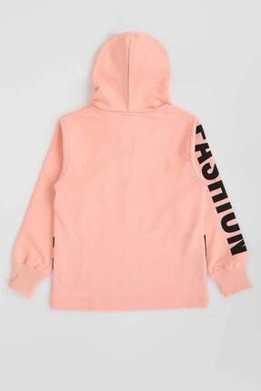 Ahenk Kids Kız Çocuk Pembe Baskılı Kapüşonlu Sweatshirt 1