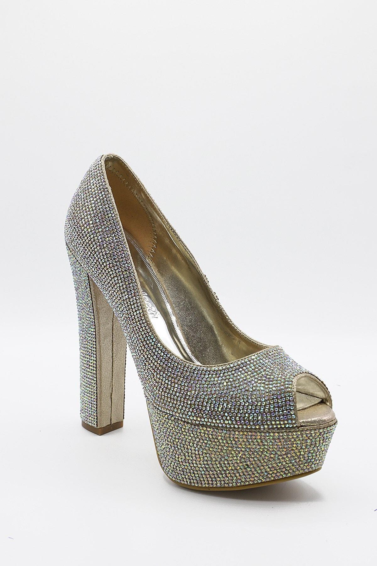 La Scada Kadın Altın Renk Dore Platform Ayakkabı Mr4551