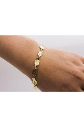 Latif Kuyumculuk Kadın Sarı Altın Defne Yaprağı Bileklik  Lks14blk0487 1