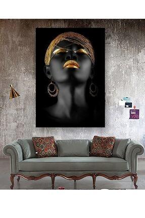 Hobimania Kanvas Tablo Afrikalı Kadın Tablosu 40x60 Cm Yaylera Dekoratif Moda Duvar Dekorasyon Tablo 1