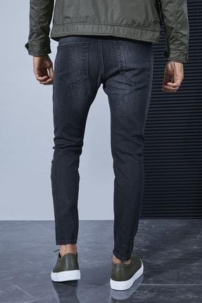 Sateen Men Erkek Koyu Antrasit Denim Pantolon 3