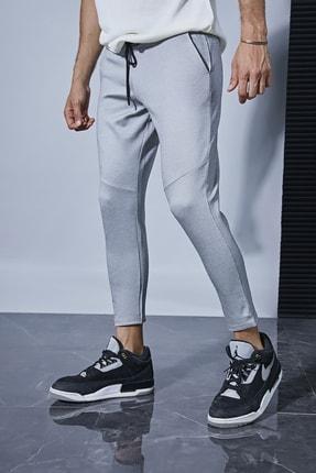 Sateen Men Erkek Gri Jogger Pantolon 0