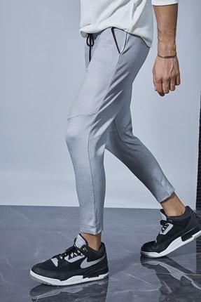 Sateen Men Erkek Gri Jogger Pantolon 2