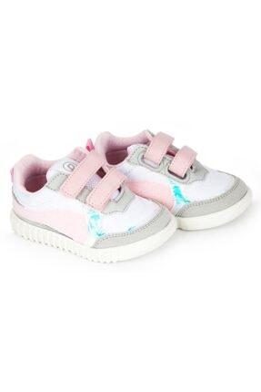 تصویر از Kız Bebek Beyaz Pembe Tam Ortopedik İlk Adım Ayakkabı