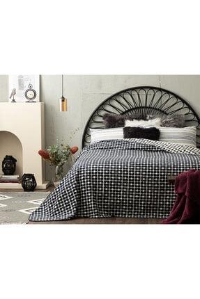 English Home Pamuklu Çift Kişilik Battaniye 200x220 Cm Beyaz - Lacivert 0