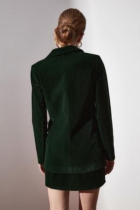 TRENDYOLMİLLA Yeşil Düğme Detaylı Blazer Ceket TWOAW20CE0367 3