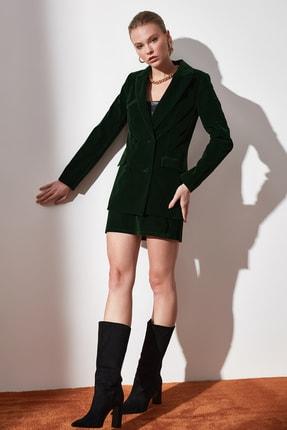 TRENDYOLMİLLA Yeşil Düğme Detaylı Blazer Ceket TWOAW20CE0367 4