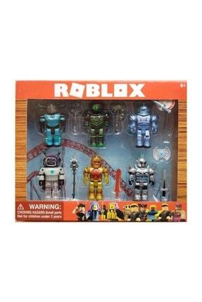 ERBAY Unisex Çocuk Renkli Roblox Figür Seti 6'lı 0