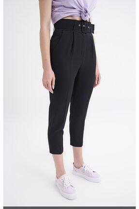 Quzu Kadın Siyah Kemerli Pantolon 3