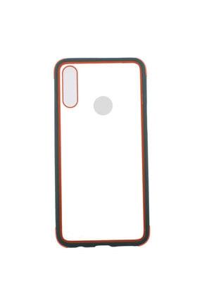 Zore Galaxy A20s Kılıf Arkası Şeffaf Renkli Kenarlı Telefon Kılıfı ve Ekran Koruyucu 0