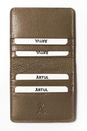 ARTUL Erkek Kahverengi Çıtçıtlı Vizon Deri Cüzdan Kartlık 1