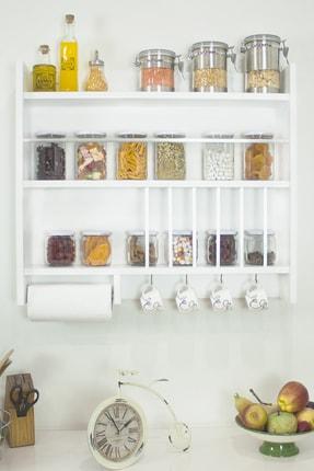 Ankaflex Ahşap Mutfak Terek Rafı Duvara Monte Mutfak Rafı Mutfak Tereği Eski Mutfak Tahtası Rafı Baharatlık 2