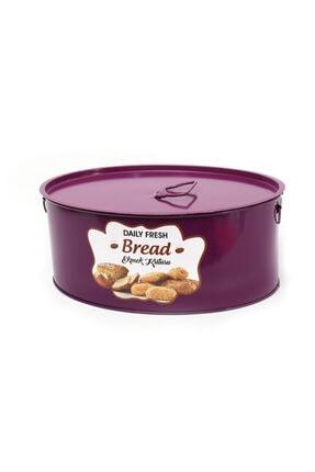 Zarif Home Büyük Boy Ekmek Kutusu Metal Mor 0