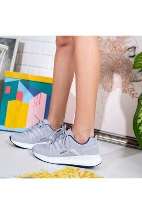 Olivo Butik Kriti Mat Deri Kalın Taban Bağcık Detaylı Spor Ayakkabı Gri 1