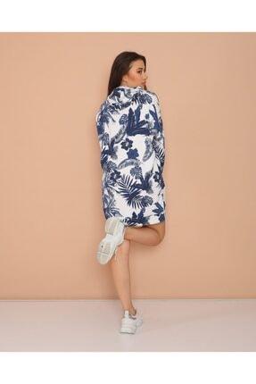 ModaSehle Kadın Lacivert Desenli  İki İplik Sweatshirt Sp1001 3