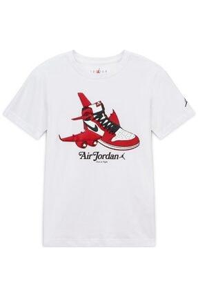 Nike Nıke Jorden Aj1 Takeoff Çocuk Beyaz Tişört 0