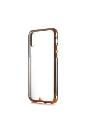 Dijimedia Apple Iphone X Arkası Şeffaf Mat Sert Renkli Plastik Kapak ve Ekran Koruyucu 0