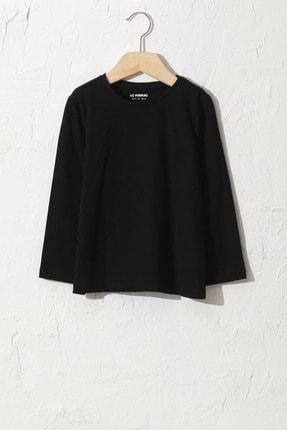LC Waikiki Kız Çocuk Yeni Siyah Cvl T-Shirt 0