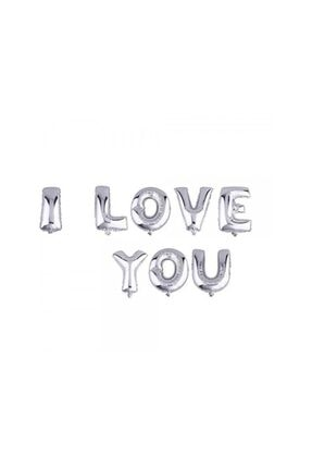 Ricardo I Love You Gümüş Renk Folyo Balon 0