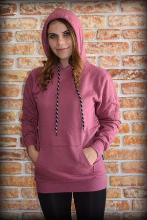 YGMR Fashion Kadın Mor  Sweatshirt Gknpink321 1
