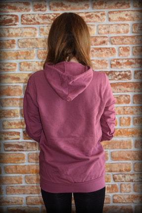 YGMR Fashion Kadın Mor  Sweatshirt Gknpink321 2