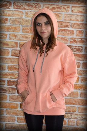 YGMR Fashion Kadın Pembe Sweatshirt Gknorange321 1