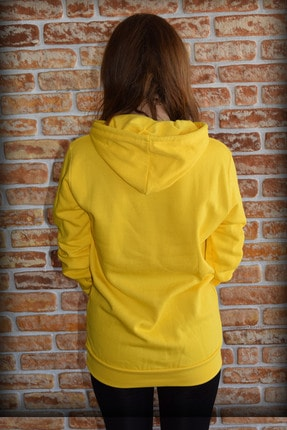 YGMR Fashion Kadın Sarı Sweatshirt Gknyellow321 2
