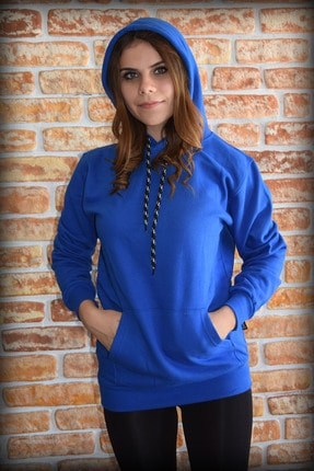 YGMR Fashion Kadın Saks Mavi Sweatshirt 1