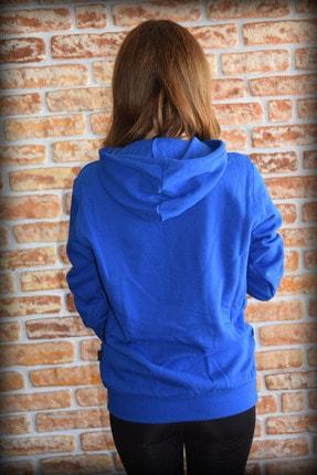 YGMR Fashion Kadın Saks Mavi Sweatshirt 2