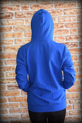 YGMR Fashion Kadın Saks Mavi Sweatshirt 3