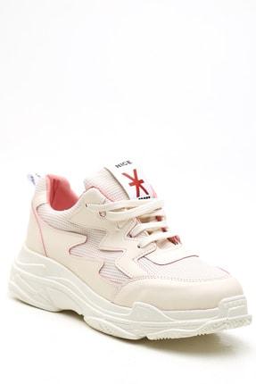 Ayakkabı Modası Kadın Bej Pudra  Sneaker 1