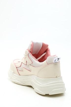 Ayakkabı Modası Kadın Bej Pudra  Sneaker 2