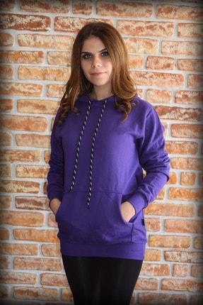 YGMR Fashion Kadın Mor Sweatshirt Gknpurple321 0