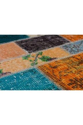 Sempati halı Çok Renkli Patchwork Eskitme Halı 3