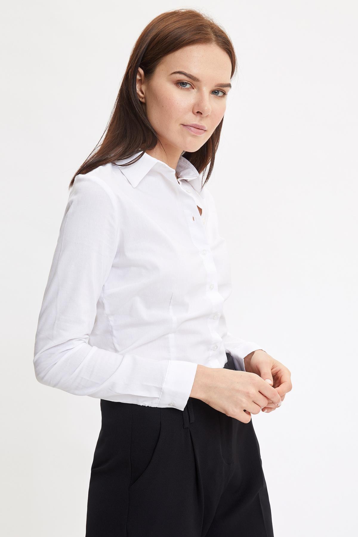 Defacto Basic Uzun Kollu Slim Fit Gömlek 0